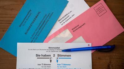 Briefwahlunterlagen für die Bundestagswahl.