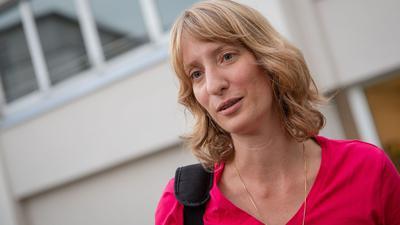 Isabell Huber, Generalsekretärin der CDU Baden-Württemberg, spricht.