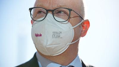 Michael Theurer, stellvertretender FDP-Fraktionsvorsitzender, mit Maske.