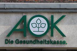 Das Logo der Krankenkasse AOK