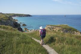 Wandern auf dem Zoellnerpfad (GR 34), Finistère, Bretagne, Frankreich 06.07.2019