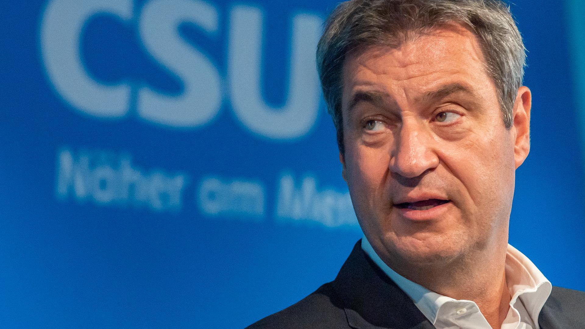 Markus Söder, CSU-Parteivorsitzender und Ministerpräsident von Bayern.