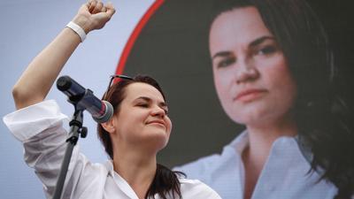 Swetlana Tichanowskaja kandidiert bei der Präsidentenwahl in Belarus.