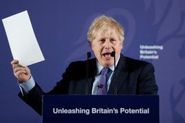 Kritiker werfen Boris Johnson vor, ein Großmaul und schlechter Krisen-Manager zu sein, der beim Brexit einen Schlingerkurs fahre.