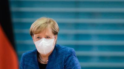 Angela Merkel vergangene Woche vor Beginn einer Sitzung des Bundeskabinetts.
