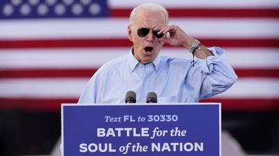 Herausforderer Joe Biden greift auf einer Wahlkampfkundgebung US-Präsidenten Donald Trump an.