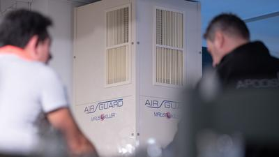 Luftfilteranlagen sollen das Corona-Infektionsrisiko senken.