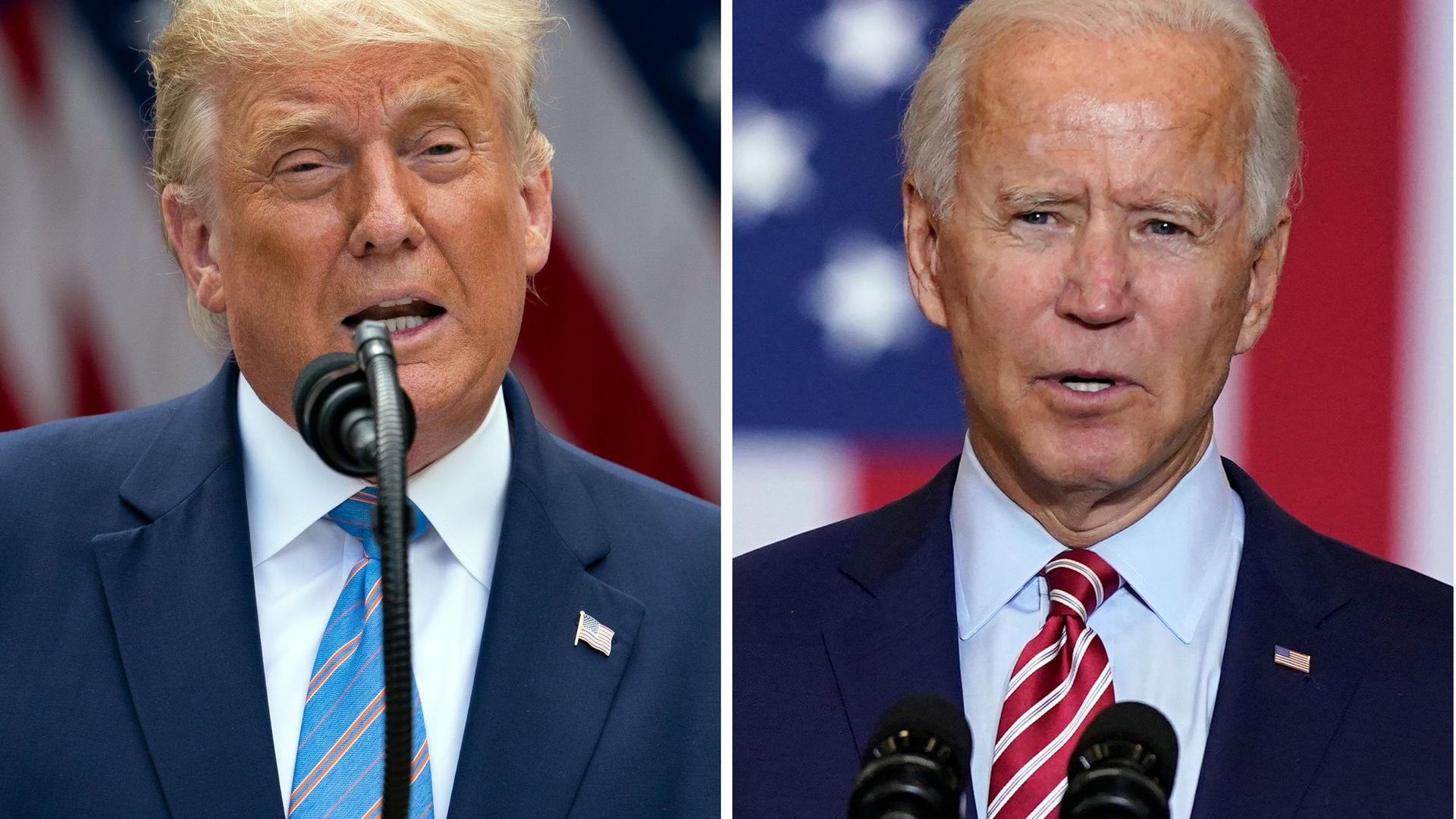 Donald Trump bewirbt sich um eine zweite und verfassungsgemäß letzte Amtszeit, der frühere Vizepräsident Joe Biden will ihn ablösen.