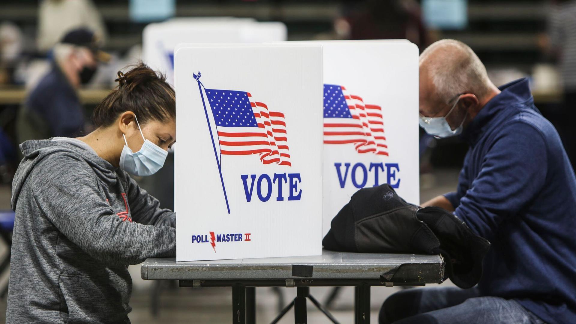 In einigen US-Bundesstaaten können die Bürger noch ihre Stimme abgeben.