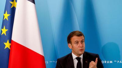 """Hat mit seinem """"Hirntod""""-Attest für viel Wirbel in der Nato gesorgt:Frankreichs Präsident Emmanuel Macron."""