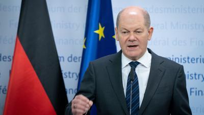 Olaf Scholz (SPD), Bundesminister der Finanzen, gibt im Finanzministerium eine Pressekonferenz. Thema sind weitere Finanzhilfen im Rahmen der Corona-Beschränkungen.