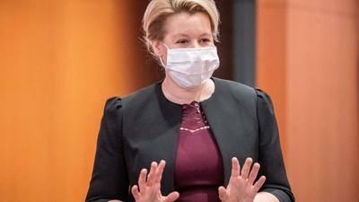 Gilt in der SPD als Favoritin für die Müller-Nachfolge: Bundesfamilienministerin Franziska Giffey.