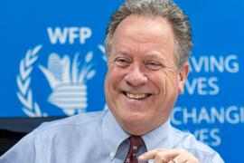 David Beasley, Exekutivdirektor des Welternährungsprogramms der Vereinten Nationen (WFP), spricht während einer Pressekonferenz.