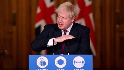 Großbritanniens Premier verkündet strenge Ausgangsbeschränkungen während der Weihnachtstage.