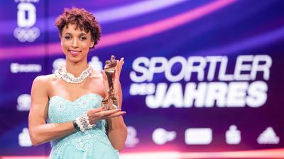 Weitspringerin Malaika Mihambo wurde zum zweiten Mal nach 2019 als Sportlerin des Jahres geehrt.