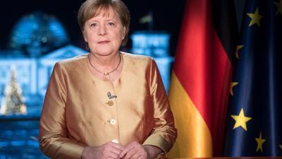Bundeskanzlerin Angela Merkel bei ihrer jährlichen Neujahrsansprache.