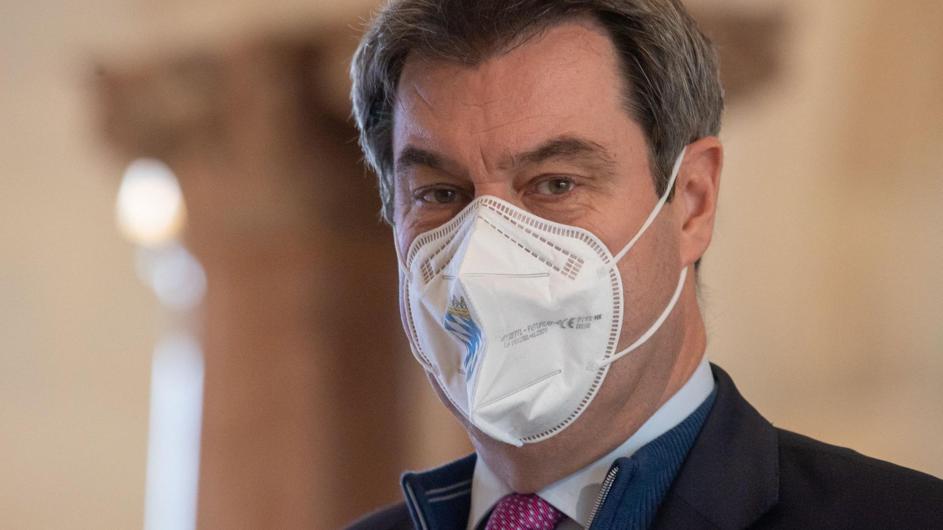 """""""Sich impfen zu lassen, sollte als Bürgerpflicht angesehen werden"""": Markus Söder."""