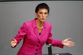 Verzichtete nach langen internen Querelen 2019 und auch aus gesundheitlichen Gründen auf eine erneute Kandidatur für den Posten als Fraktionschefin: Sahra Wagenknecht.