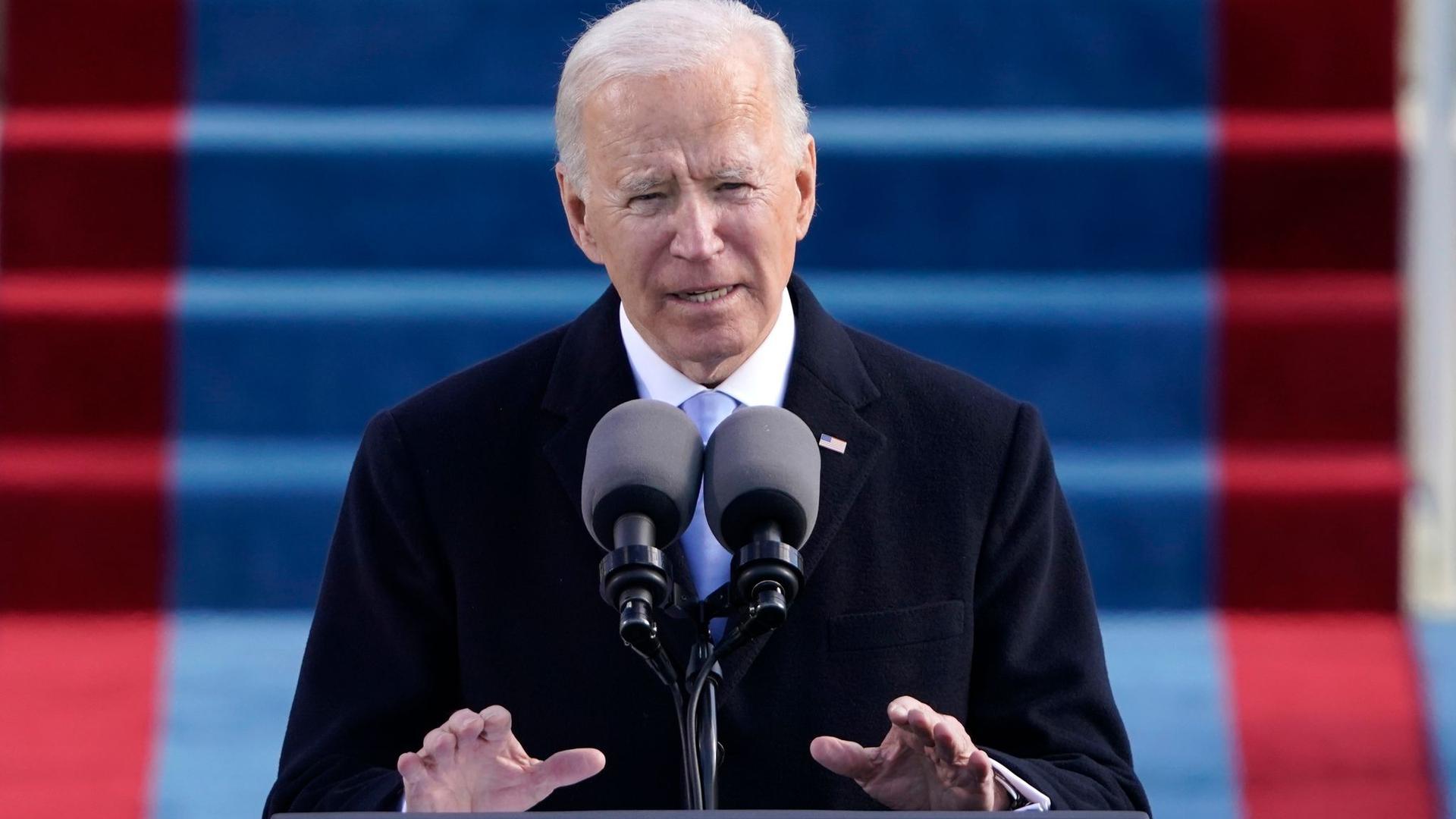 Nach der Vereidigung kündigt der neue US-Präsident Joe Biden die Rückkehr zum Pariser Klimaabkommen an.