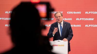 """""""Bei dieser Bundestagswahl geht es um die Richtung der Republik"""": Armin Laschet."""
