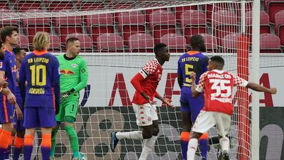 RB Leipzig musste gegen Mainz einen Rückschlag im Titelrennen hinnehmen.