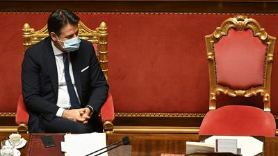 Laut Regierung in Rom will Italiens Ministerpräsident Giuseppe Conte seinen Rücktritt anbieten.