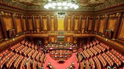 Blick auf den Senat von Italien. Nach dem Rücktritt von Giuseppe Conte als Ministerpräsident braucht Italien eine neue Regierung.