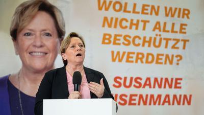 CDU-Spitzenkandidatin Susanne Eisenmann präsentiert die Wahlkampagne der baden-württembergischen CDU.