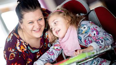 Trotz der erschwerten Bedingungen durch die Corona-Pandemie war Katharina Kuhlemann im vergangenen Jahr mit Emma für vier Wochen im Kinderhospiz Löwenherz in Syke.