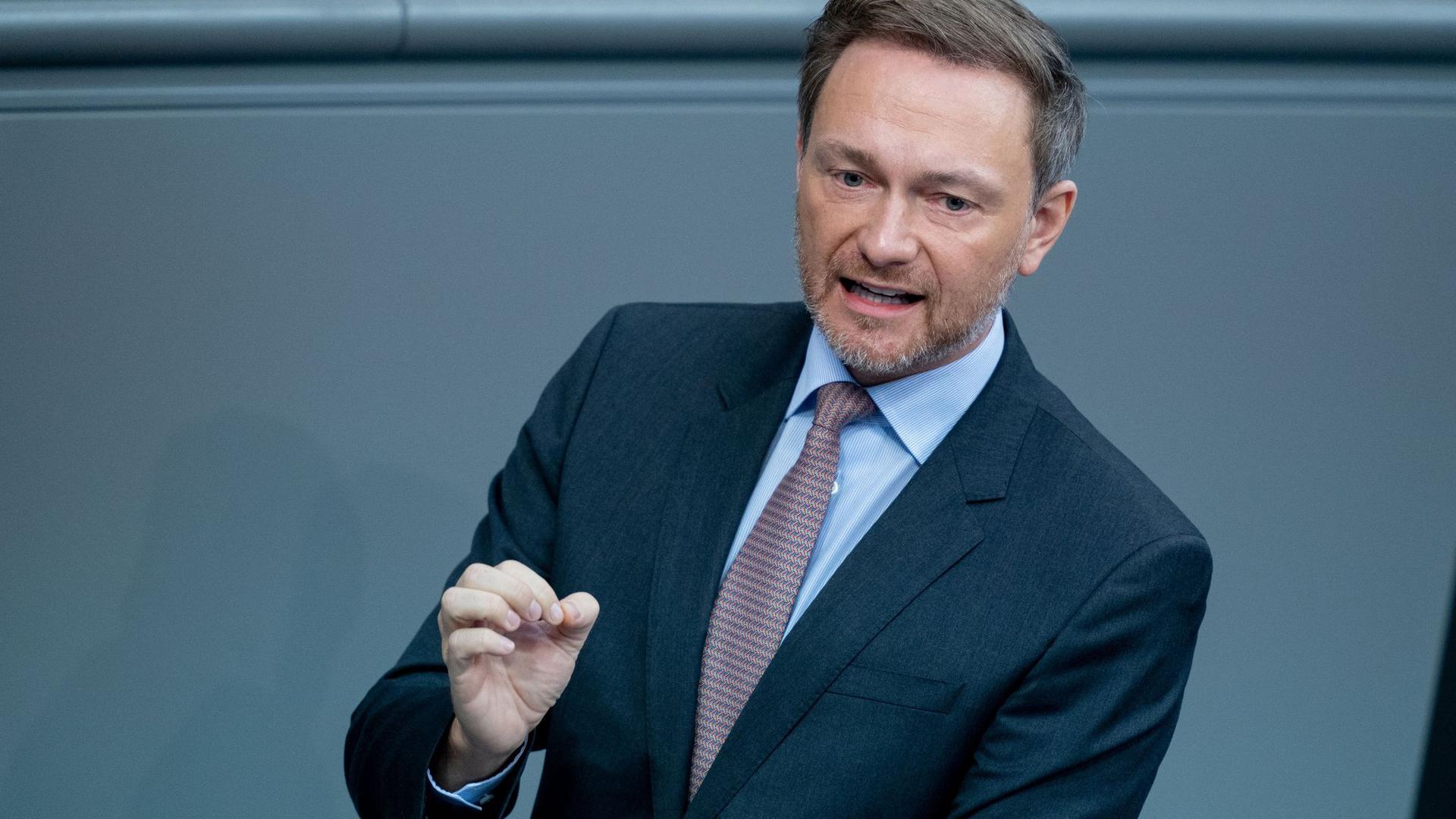 Christian Lindner, Fraktionsvorsitzender und Parteivorsitzender der FDP.