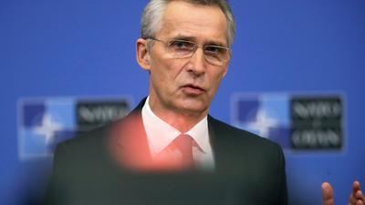 Jens Stoltenberg, Generalsekretär der Nato, berät mit den Staats- und Regierungschefs der EU.