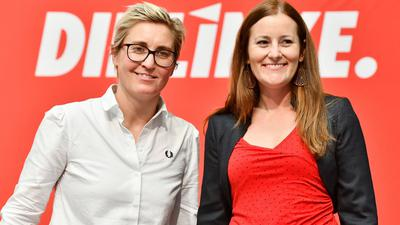 Sollen das neue Linken-Führungsduo bilden:Susanne Hennig-Wellsow (l) und Janine Wissler.