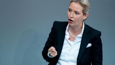 Alice Weidel, Fraktionsvorsitzende der AfD.