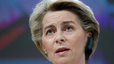 """""""Wir haben uns ehrgeizige Ziele gesetzt"""", sagt Kommissionspräsidentin Ursula von der Leyen."""