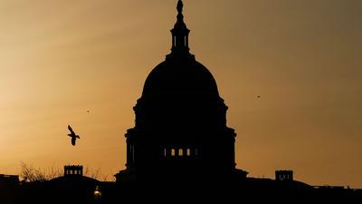 Die Kuppel des US-Kapitols in Washington, Sitz vonSenat und Repräsentantenhaus.