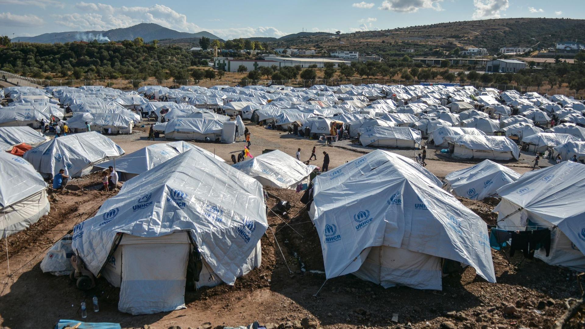 Flüchtlings-Lager auf der griechischen Insel Lesbos.