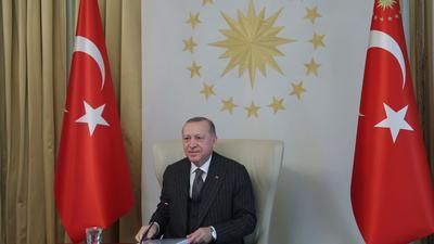 Recep Tayyip Erdogan, Präsident der Türkei. Das Land ist aus der sogenannten Istanbul-Konvention ausgetreten, die Gewalt an Frauen verhindern und bekämpfen soll.