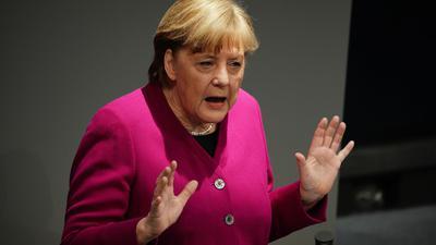 """""""Wenn wir uns ausruhen auf dem, was wir haben, reicht es nicht"""": Bundeskanzlerin Angela Merkel."""