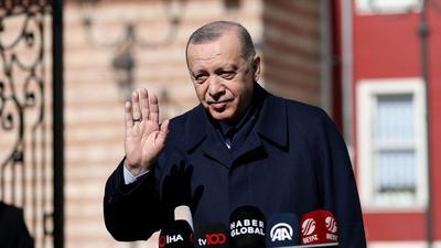 Der türkische Präsident Recep Tayyip Erdogan. Unabhängig vom Erdgasstreit will die EU die Zusammenarbeit mit der Türkei in Bereichen wie Grenzschutz und Bekämpfung illegaler Migration ausbauen.