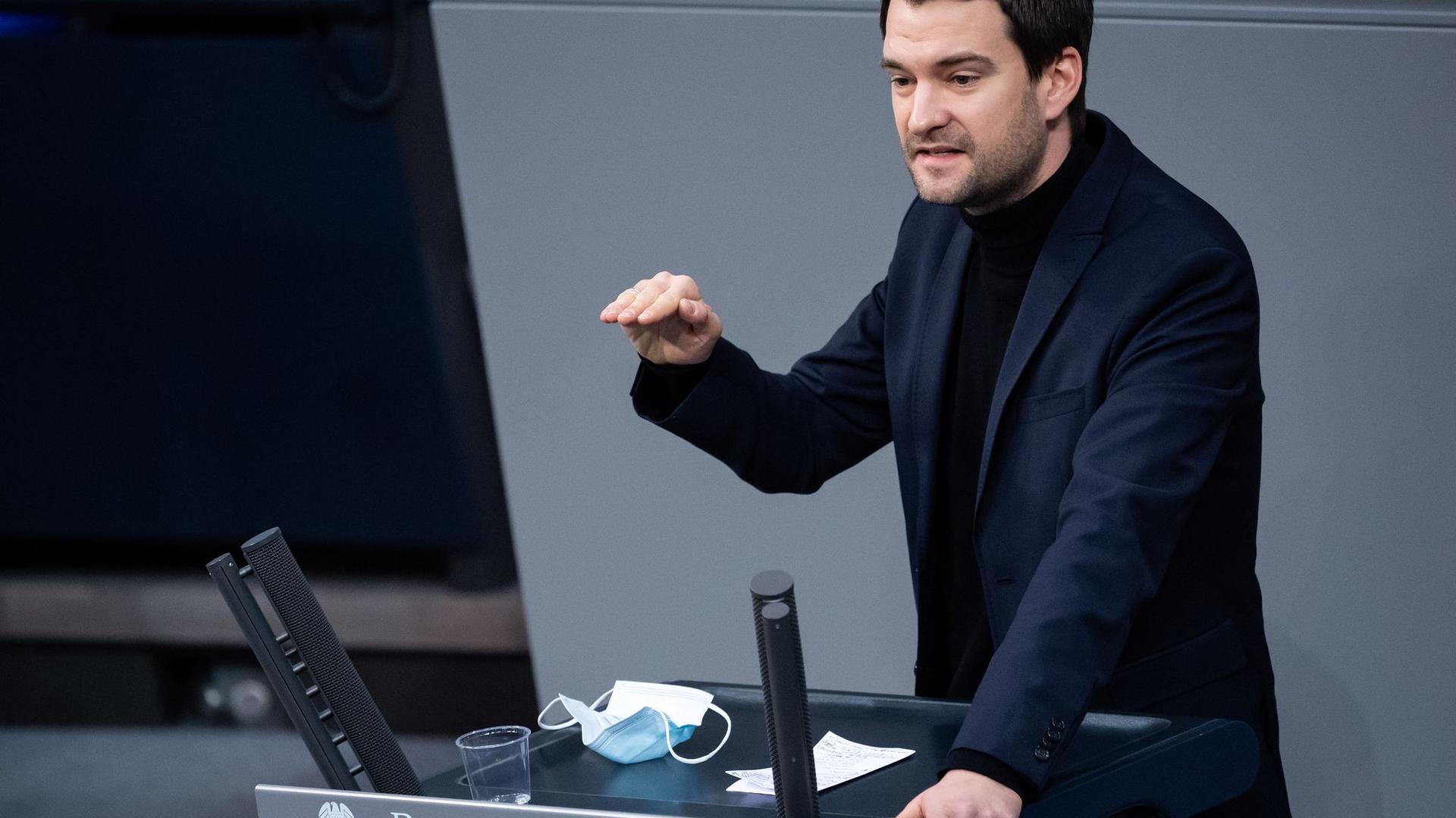 Johannes Vogel (FDP) bei einer Plenarsitzung im Deutschen Bundestag.
