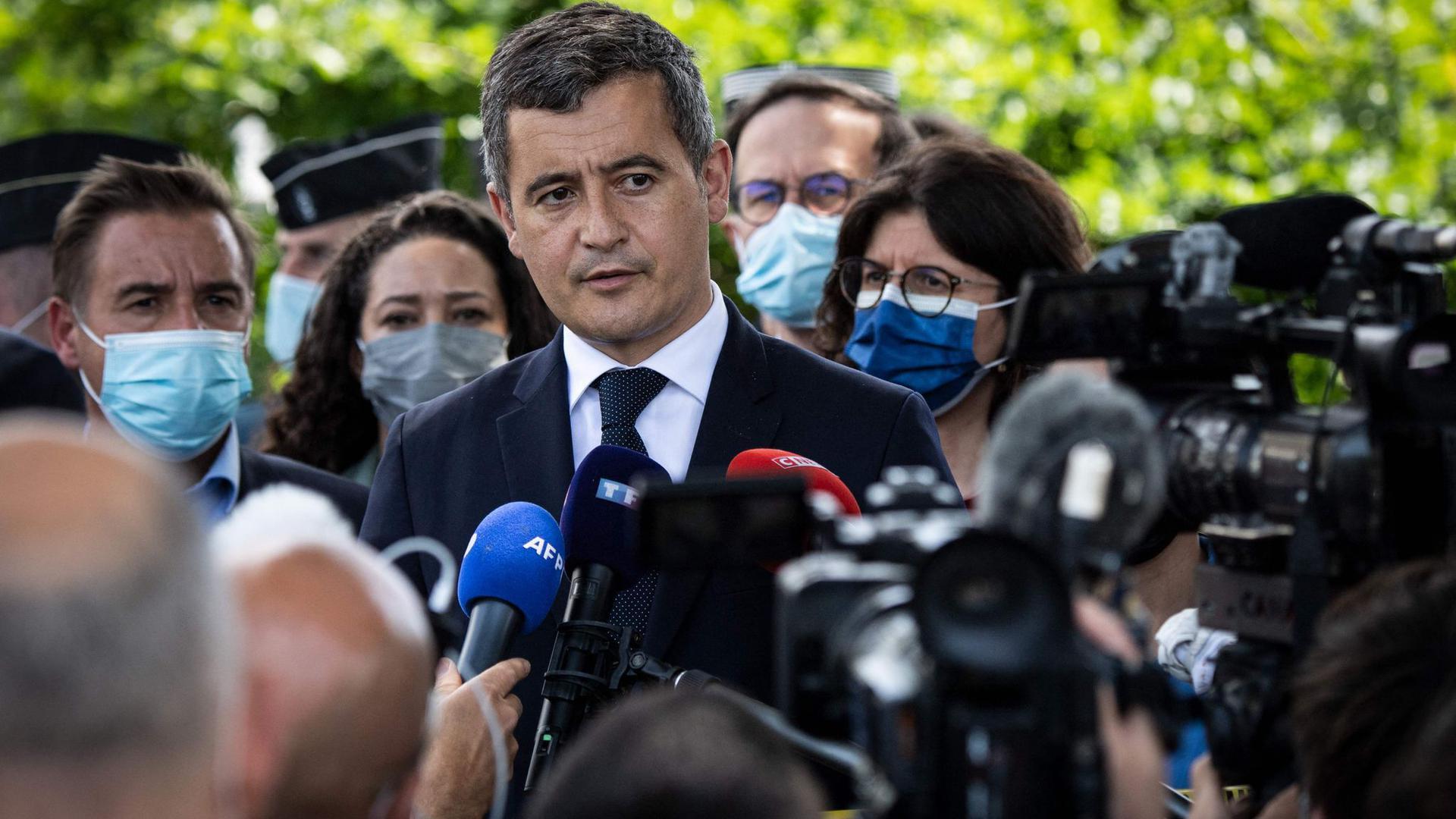 Gerald Darmanin, Innenminister von Frankreich, in La Chapelle-sur-Erdre.