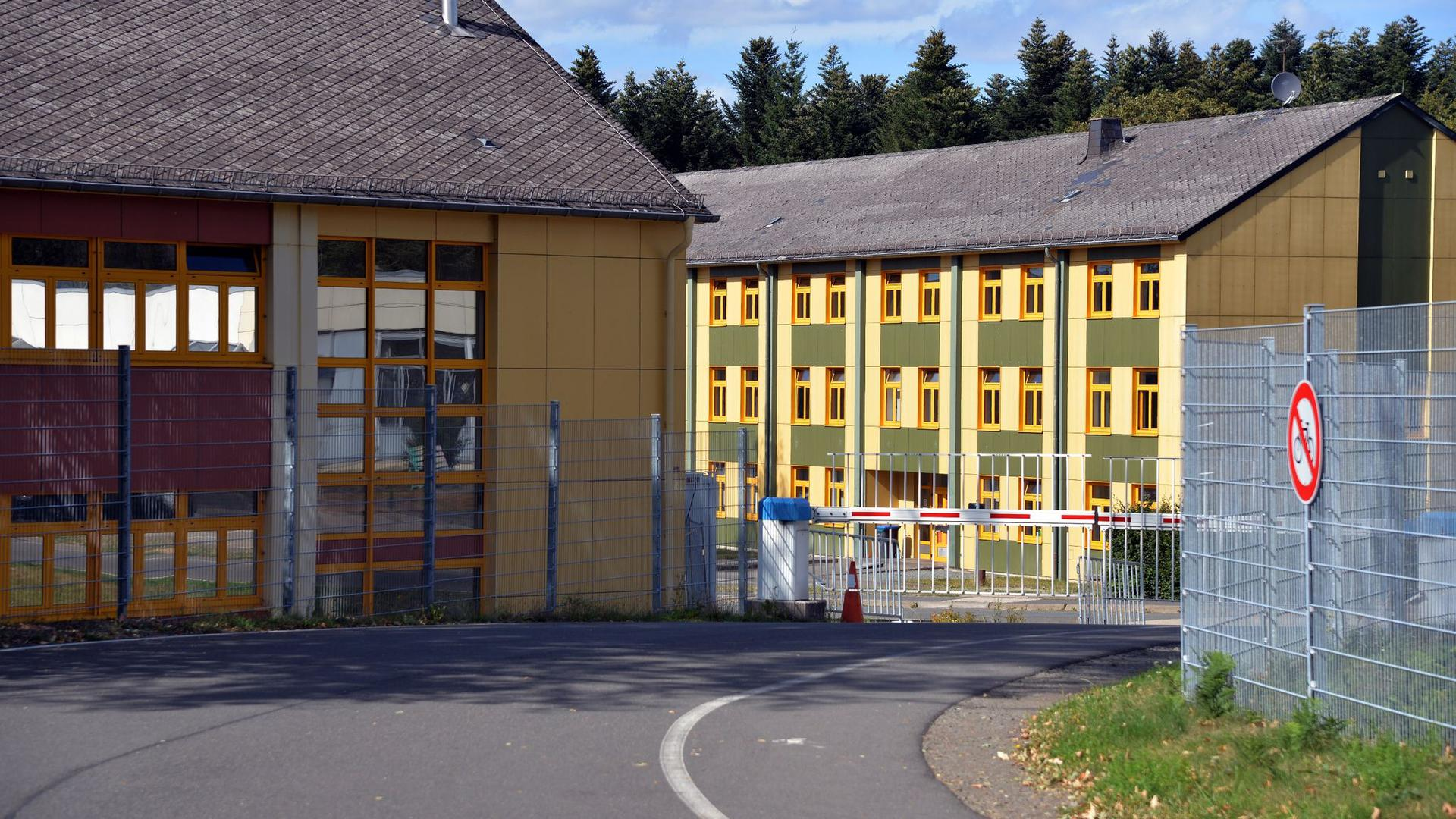 Eine Aufnahmeeinrichtung für Asylbegehrende (AfA) in Hermeskeil in Rheinland-Pfalz.