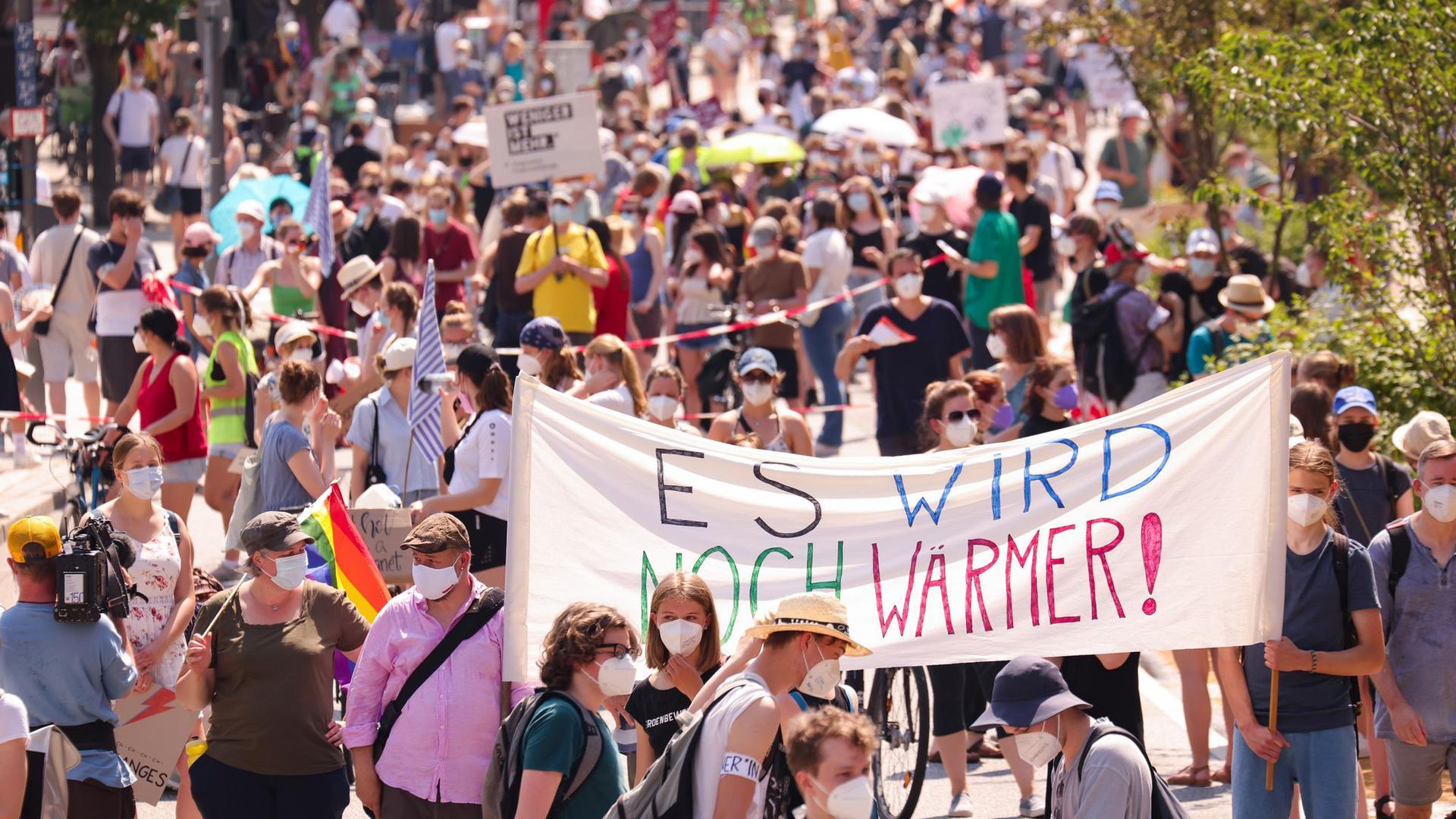 Fridays-for-Future-Demo in Hamburg.