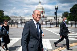 Bundesfinanzminister Olaf Scholz (SPD) ist gerade in Washington zu Besuch.