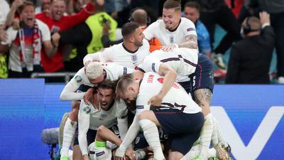 England steht nach dem Sieg gegen Dänemark im EM-Finale gegen Italien.