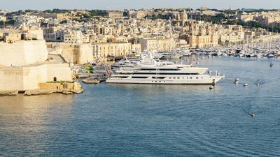Der den Hafen von Valletta.