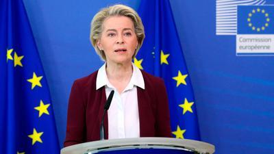 Die EU-Kommission von Ursula von der Leyen präsentiert ein Gesetzespaket zu europäischen Klimazielen.