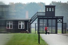 Der Eingang des Stutthof Museums in Polen, in dem an die Verbrechen im ehemaligen Konzentrationslager Stutthof erinnert wird.