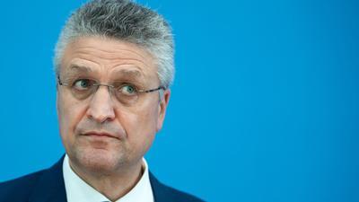 RKI-Präsident Wieler vergangenen Monat während einer Pressekonferenz in Berlin.