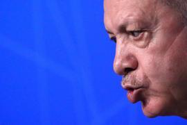 Der türkische Präsident Erdogan während einer Pressekonferenz Mitte Juni.